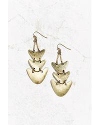 Urban Outfitters | Metallic Golden Echo Drop Earring | Lyst