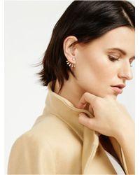 BaubleBar Metallic Crystal Ray Ear Jackets