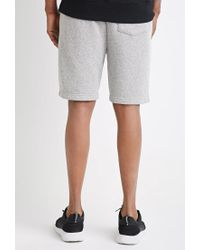 Forever 21 - Gray Marled Drawstring Sweatshorts for Men - Lyst