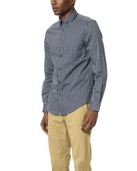 Ben Sherman Blue Micro Gingham Regular Fit Shirt for men
