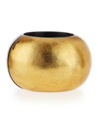 Viktoria Hayman Metallic Gold Foil Stretch Bangle Bracelet