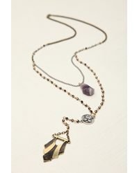Free People - Purple Womens Double Layer Rosary - Lyst