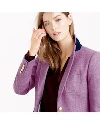 J.Crew Purple Collection Rhodes Blazer In Heather Floral Wool