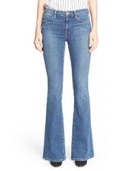 FRAME Blue 'le High Flare' Jeans