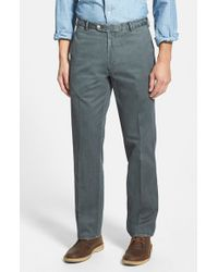 Peter Millar | Gray Garment Washed Twill Pants for Men | Lyst