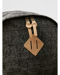 Topman Gray Charcoal Canvas Backpack for men