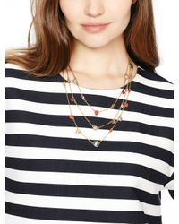kate spade new york - Multicolor Bashful Blossom Triple Strand Necklace - Lyst