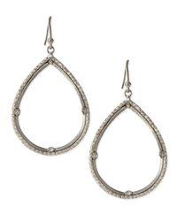 Armenta Metallic New World Silver & White Diamond Teardrop Earrings