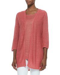 Belford - Pink Long Open Cardigan Vest - Lyst