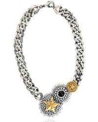 Iosselliani Metallic Full Metal Jewels Necklace