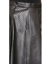J.W.Anderson Faux Leather Midi-skirt - Black