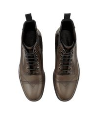 Jimmy Choo Black Jules Steel Grey Smooth Leather Boots for men