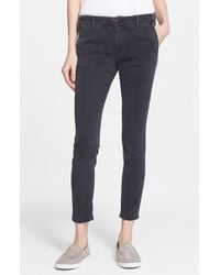 The Great - Black 'the Skinny Slack' Ankle Pants - Lyst