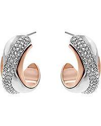 Swarovski Pink Wave Pierced Earrings