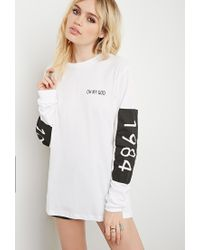 Forever 21 | White This Is A Love Song 1984 Crew Tee | Lyst