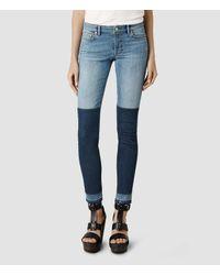 AllSaints Blue Mast Pane Jeans/Indigo 70