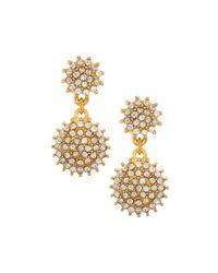 R.j. Graziano - Metallic Golden Crystal Drop Earrings - Lyst