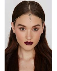 Nasty Gal - Metallic Keep A Jewel Head Piece - Lyst
