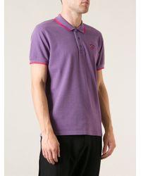 KENZO - Purple Jungle Logo Polo Shirt for Men - Lyst