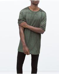 Zara | Natural Printed T-shirt for Men | Lyst