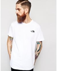 The North Face White T-shirt with Red Box Logo for men