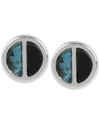 Kenneth Cole | Metallic Silver-tone Shell Circle Stud Earrings | Lyst