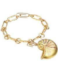 Aurelie Bidermann | Metallic Multicolored Sapphire And Diamond Nautilus Pendant | Lyst