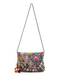 Shashi | Multicolor Kamila Clutch - Natural/multi | Lyst