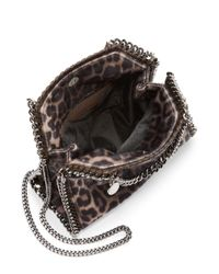 Stella McCartney Multicolor Falabella Mini Baby Bella Leopard-print Faux Fur Shoulder Bag