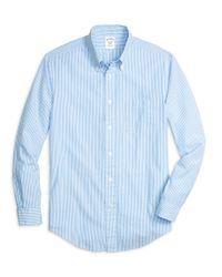 Brooks Brothers | Blue Regent Fit Seersucker Stripe Sport Shirt for Men | Lyst