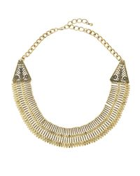 Panacea | Metallic Antiqued Golden Collar Necklace | Lyst