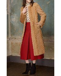 Vilshenko - Red Lucy Wool Silk Gabardine Culotte - Lyst