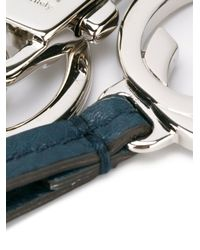 Gucci - Blue Fringed Leather Keyring - Lyst
