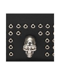 Alexander McQueen - Black Mini Studs Card Holder for Men - Lyst