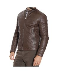 Paolo Pecora | Brown Down Jacket for Men | Lyst