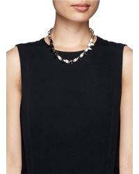 Joomi Lim - Metallic 'white Out' Spike Chain Choker - Lyst