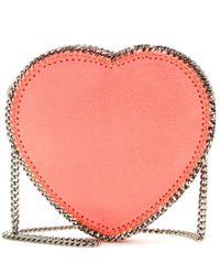 Stella McCartney | Pink Faux Suede Shoulder Bag | Lyst