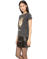 Maison Kitsuné Gray Walking Fox Tshirt Dark Grey Melange