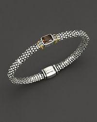 Lagos Metallic Glacier Rope Bracelet with Smoky Topaz Stone