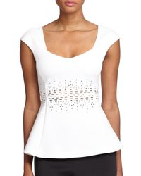 Clover Canyon | White Laser-cut Neoprene Top | Lyst