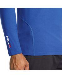 Ralph Lauren | Blue Stretch Mockneck Shirt | Lyst