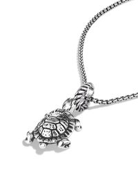 David Yurman | Metallic Cable Collectibles Turtle Charm | Lyst