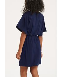 Oasis Blue Plain Tapestry Dress