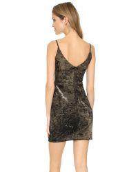 Black Halo - Metallic Judy Mini Dress - Lyst