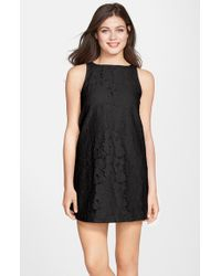 BB Dakota | Black 'savvanah' Lace Shift Dress | Lyst