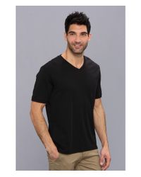 Perry Ellis Black Short Sleeve V-Neck T-Shirt for men