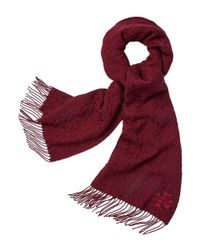 Tory Burch | Red Whipstitch-t Scarf | Lyst