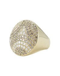 Cartier - Metallic Pre-Owned: 18Ky Gold And Diamond Nouvelle Vague Ring - Lyst