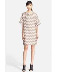 Rag & Bone | Natural 'chester' Print Silk Dress | Lyst