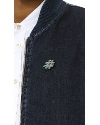 Macon & Lesquoy - Blue Hashtag Pin for Men - Lyst